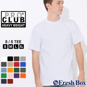 PRO CLUB Short Sleeve Crew Neck T-shirt Heavy Weig...