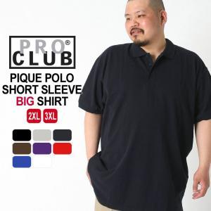 [ビッグサイズ] プロクラブ ポロシャツ 半袖 無地 メンズ 121|大きいサイズ USAモデル ブランド PRO CLUB|半袖ポロシャツ 鹿の子 (outlet)|f-box