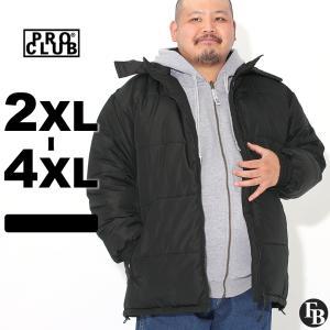 [ビッグサイズ] プロクラブ 中綿ジャケット メンズ|大きいサイズ USAモデル ブランド PRO CLUB|防寒 撥水 アウター ブルゾン XXL 2L 3L 4L|f-box