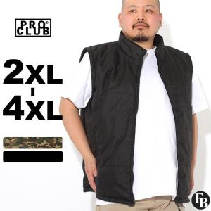 [ビッグサイズ] プロクラブ 中綿ベスト フリースライナー メンズ 大きいサイズ 125 USAモデル|ブランド PRO CLUB|ベスト 中綿 アメカジ ミリタリー|f-box