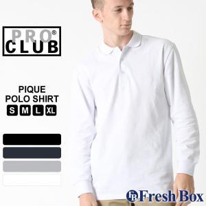 プロクラブ ポロシャツ 長袖 メンズ 大きいサイズ 127 USAモデル|ブランド PRO CLUB|長袖ポロシャツ アメカジ|f-box