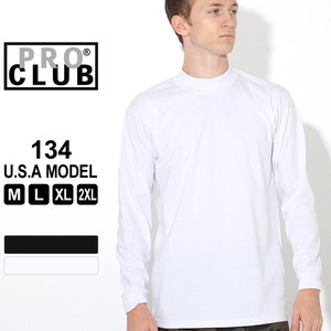 Pro Club, Mock Turtle Long Sleeve Tee  ●ストリートシーンでも...