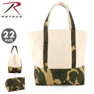 ROTHCO ロスコ バッグ トートバッグ メンズ キャンバス 迷彩柄 大きめ 大容量 ミリタリー アウトドア 旅行用 (USAモデル)|f-box