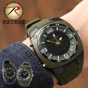 ロスコ 腕時計 耐水性 メンズ レディース USAモデル 米軍 ブランド ROTHCO ミリタリー アナログ デジタル f-box