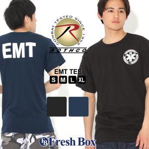ロスコ Tシャツ 半袖 クルーネック EMT メンズ 大きいサイズ USAモデル|ブランド ROTHCO|半袖Tシャツ アメカジ ミリタリー|f-box