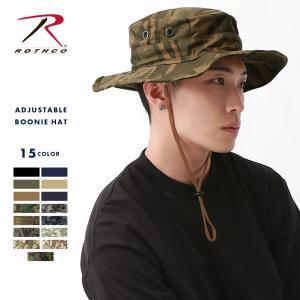 ロスコ 帽子 サファリハット あご紐 メンズ レディース ブーニーハット USAモデル 米軍|ブランド ROTHCO|ミリタリー アウトドア 迷彩 無地|f-box