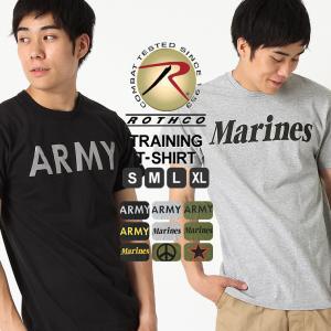ロスコ Tシャツ 半袖 メンズ 大きいサイズ USAモデル 米軍|ブランド ROTHCO|半袖Tシャツ ミリタリー ロゴ プリント|f-box