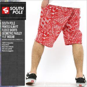 サウスポール ハーフパンツ メンズ 大きいサイズ 柄 プリント ハーフパンツ スウェット サルエルパンツ おしゃれ|f-box