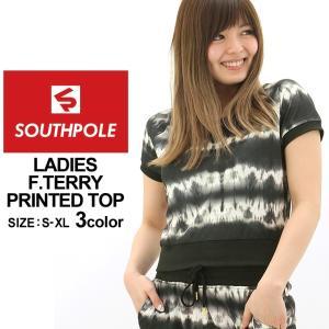 サウスポール Tシャツ 半袖 スウェット レディース 15123-1545|大きいサイズ USAモデル ブランド SOUTH POLE|半袖Tシャツ プリント|f-box