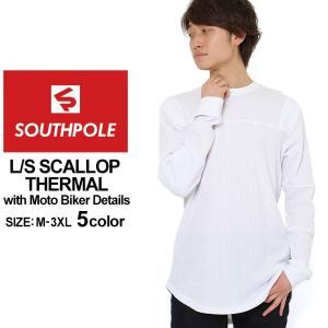 サウスポール ロンT Uネック サーマル メンズ|大きいサイズ USAモデル ブランド SOUTH POLE|長袖Tシャツ バイカーファッション ストリート|f-box