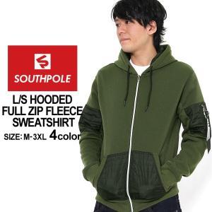 サウスポール パーカー ジップアップ メンズ 裏起毛|大きいサイズ USAモデル ブランド SOUTH POLE|スウェット XL XXL LL 2L 3L|f-box