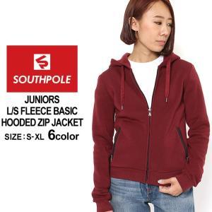 サウスポール パーカー ジップアップ 無地 レディース 裏起毛|大きいサイズ USAモデル ブランド SOUTH POLE|スウェット フリース XL LL|f-box