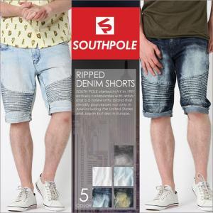 サウスポール ハーフパンツ デニム メンズ|大きいサイズ USAモデル ブランド SOUTH POLE|バイカーパンツ ジーンズ デニム ジーパン|f-box
