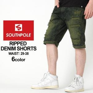 サウスポール ハーフパンツ デニム ダメージ加工 メンズ|大きいサイズ USAモデル ブランド SOUTH POLE|ジーンズ デニム ジーパン|f-box