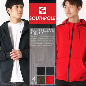 サウスポール パーカー ジップアップ 無地 メンズ|大きいサイズ USAモデル ブランド SOUTH POLE|フルジップセーター アメカジ XL XXL LL 2L 3L|f-box