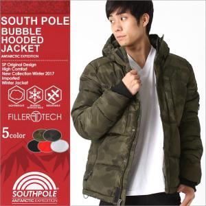 サウスポール (SOUTH POLE) ジャケット メンズ 中綿 迷彩 ジャケット 秋冬 防寒 撥水 アウター ブルゾン 大きいサイズ メンズ 2L 3L f-box