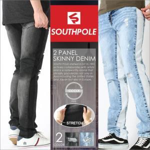 SOUTH POLE サウスポール ラインパンツ メンズ スキニー メンズ デニム ストレッチ|f-box