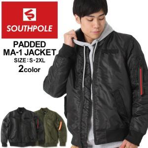 サウスポール MA-1 中綿 メンズ フライトジャケット|大きいサイズ USAモデル ブランド SOUTH POLE|防寒 アウター ブルゾン ジャケット XL XXL LL 2L 3L|f-box