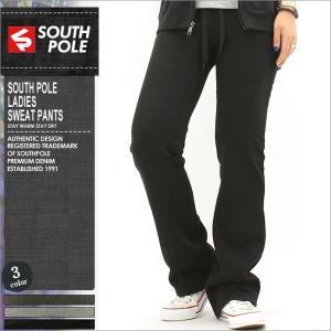 SOUTH POLE サウスポール スウェットパンツ レディース スリム 大きいサイズ アメカジ ストリート ブランド スウェット 黒 ブラック|f-box
