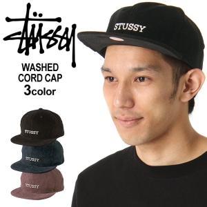 ステューシー キャップ 帽子 メンズ レディース コーデュロイ|USAモデル ブランド STUSSY|スナップバックキャップ フラットバイザー ストリート|f-box