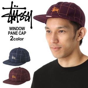 ステューシー キャップ 帽子 メンズ レディース チェック柄|USAモデル ブランド STUSSY|スナップバックキャップ フラットバイザー ストリート|f-box