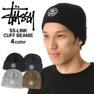 ステューシー ニット帽 メンズ|大きいサイズ USAモデル ブランド STUSSY|ニットキャップ カフニット ビーニー ストリート|f-box
