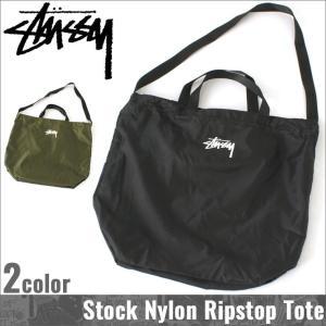 STUSSY ステューシー バッグ メンズ 2WAY バッグ メンズ ナイロン トートバッグ ショルダーバッグ 折り畳み 持ち運び|f-box