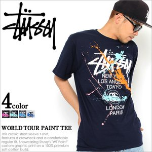Stussy ステューシー Tシャツ メンズ 半袖 ストリート ファッション ステューシー メンズ STUSSY Tシャツ メンズ 大きいサイズ 半袖Tシャツ ブランド|f-box