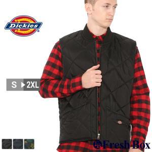 ディッキーズ キルティング ナイロンベスト TE242 メンズ|大きいサイズ USAモデル Dickies|f-box