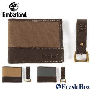 ティンバーランド 二つ折り財布 キーホルダー 2点セット 箱付き 小銭入れなし メンズ NP0379...