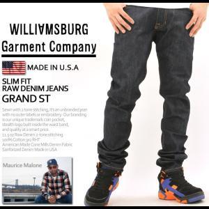 ウィリアムズバーグ ジーンズ スリム リジッド ノンウォッシュ メンズ アメリカ製 大きいサイズ USAモデル ブランド WILLIAMSBURG ジーパン デニムパンツ f-box