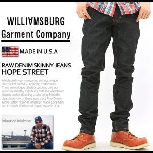 ウィリアムズバーグ ジーンズ スキニー リジッド ノンウォッシュ メンズ アメリカ製 大きいサイズ USAモデル ブランド WILLIAMSBURG ジーパン デニムパンツ f-box