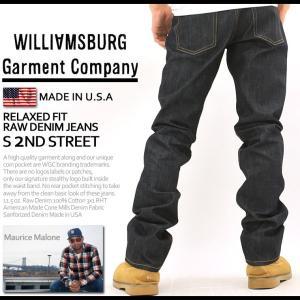 ウィリアムズバーグ ジーンズ メンズ リジッド ノンウォッシュ アメリカ製 south-2nd-st 大きいサイズ USAモデル ブランド WILLIAMSBURG デニムパンツ f-box