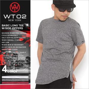 WT02 Tシャツ 半袖 ロング丈 メンズ 16191-1031|大きいサイズ USAモデル ブランド ダブルティー02|半袖Tシャツ ヘムライン ストリート|f-box