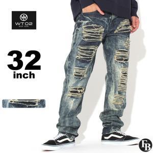 wt02 ジーンズ メンズ ダメージ ジーンズ メンズ 大きいサイズ ダメージジーンズ ダメージデニム ストレート|f-box