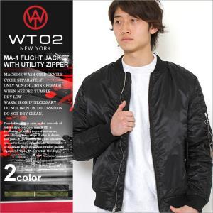 WT02 MA-1 メンズ フライトジャケット|大きいサイズ USAモデル ブランド ダブルティー02|防寒 アウター ブルゾン ミリタリージャケット XL XXL LL 2L 3L|f-box