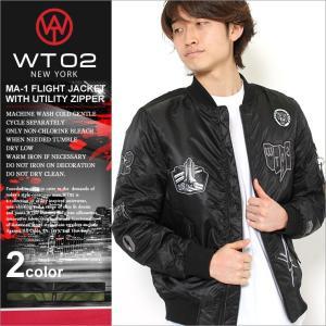 WT02 MA-1 ワッペン メンズ フライトジャケット 16391-5129|大きいサイズ USAモデル ブランド ダブルティー02|ミリタリージャケット 中綿ジャケット 防寒|f-box