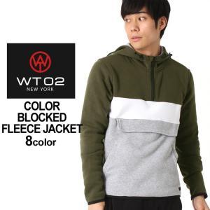 WT02 ジャケット フリース ハーフジップ メンズ アノラックパーカー 17391-1540|大きいサイズ USAモデル ブランド ダブルティー02|フリースジャケット 防寒|f-box