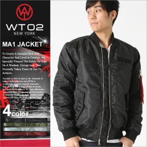 WT02 MA-1 無地 フライトジャケット メンズ 17391-5101|大きいサイズ USAモデル ブランド ダブルティー02|ミリタリージャケット 中綿ジャケット 防寒|f-box
