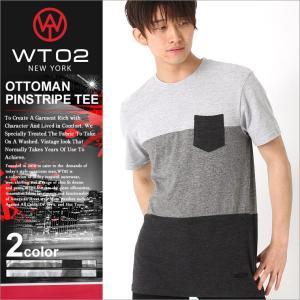 WT02 Tシャツ 半袖 ポケット 無地 メンズ 18191-1463|大きいサイズ USAモデル ブランド ダブルティー02|ブロックカラー 半袖Tシャツ ストリート|f-box