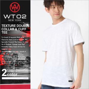 WT02 Tシャツ 半袖 ポケット 無地 メンズ 18191-1465|大きいサイズ USAモデル ブランド ダブルティー02|レイヤード 半袖Tシャツ ストリート|f-box