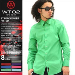 シャツ メンズ 長袖 長袖 シャツ メンズ カラーシャツ 長袖シャツ 無地 大きいサイズ|f-box