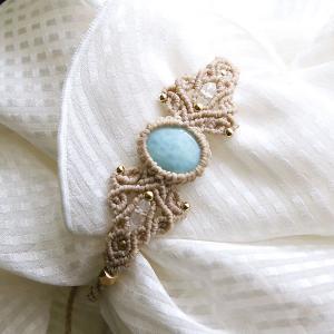 ラブラドライト マクラメ編み 天然石ブレスレット(送料無料・ギフト包装無料)|f-click|02