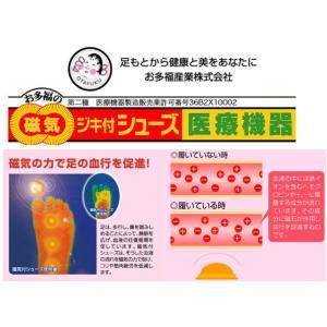 お多福 磁気付健康シューズ [ 女性用 ] アイリス 黒 【日本製】 22.0cm〜25.0cm f-club 03
