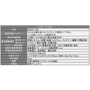 バッテリーチェッカー MICRO-100 (バッテリーテスターSAE・DIN・IEC・EN・CA(MCA)規格対応型)|f-depot|06