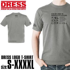 DRESS ロゴ Tシャツ [グレイ/ブラック]【5のつく日はポイント10倍】