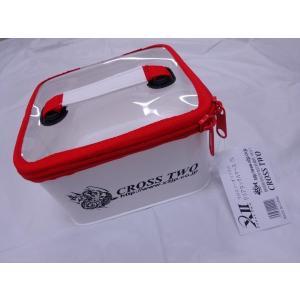 ※ クロスツー X2 XII オリジナル クリアタックルケース S レッド 200020|f-eldo