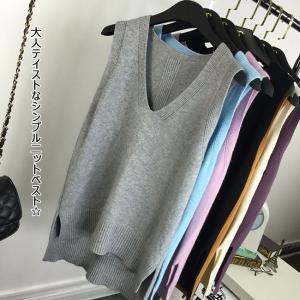 ロングシーズン使える大人テイストなシンプル二ットベストがDebut!! ゆとりのあるデザインはシャツ...