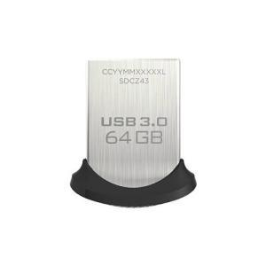 【SB】 SanDisk USB3.0フラッシュメモリ 64GB ウルトラフィット USBメモリ 130MB/s SDCZ43-064G-GAM46 f-fact