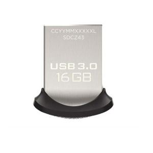 【SB】 SanDisk USB3.0フラッシュメモリ 16GB ウルトラフィット USBメモリ 130MB/s SDCZ43-016G-GAM46 f-fact